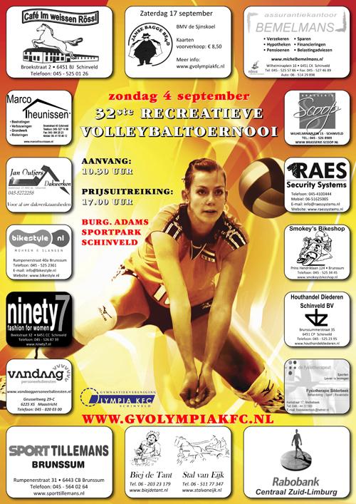 Poster Volleybaltoernooi 2016