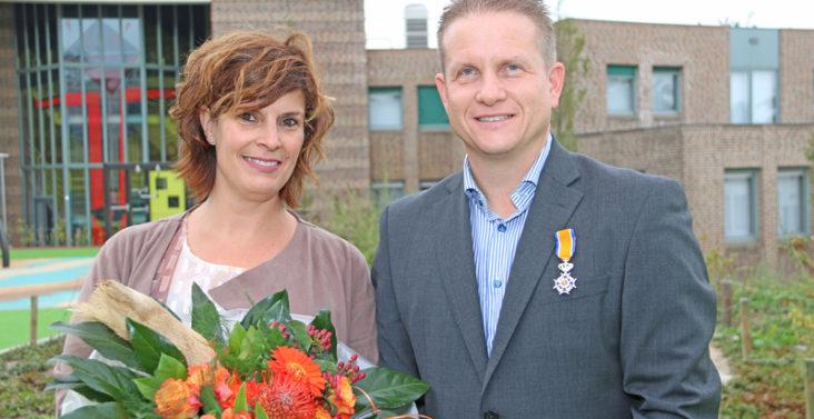 John Wevers samen met zijn vrouw Chantal
